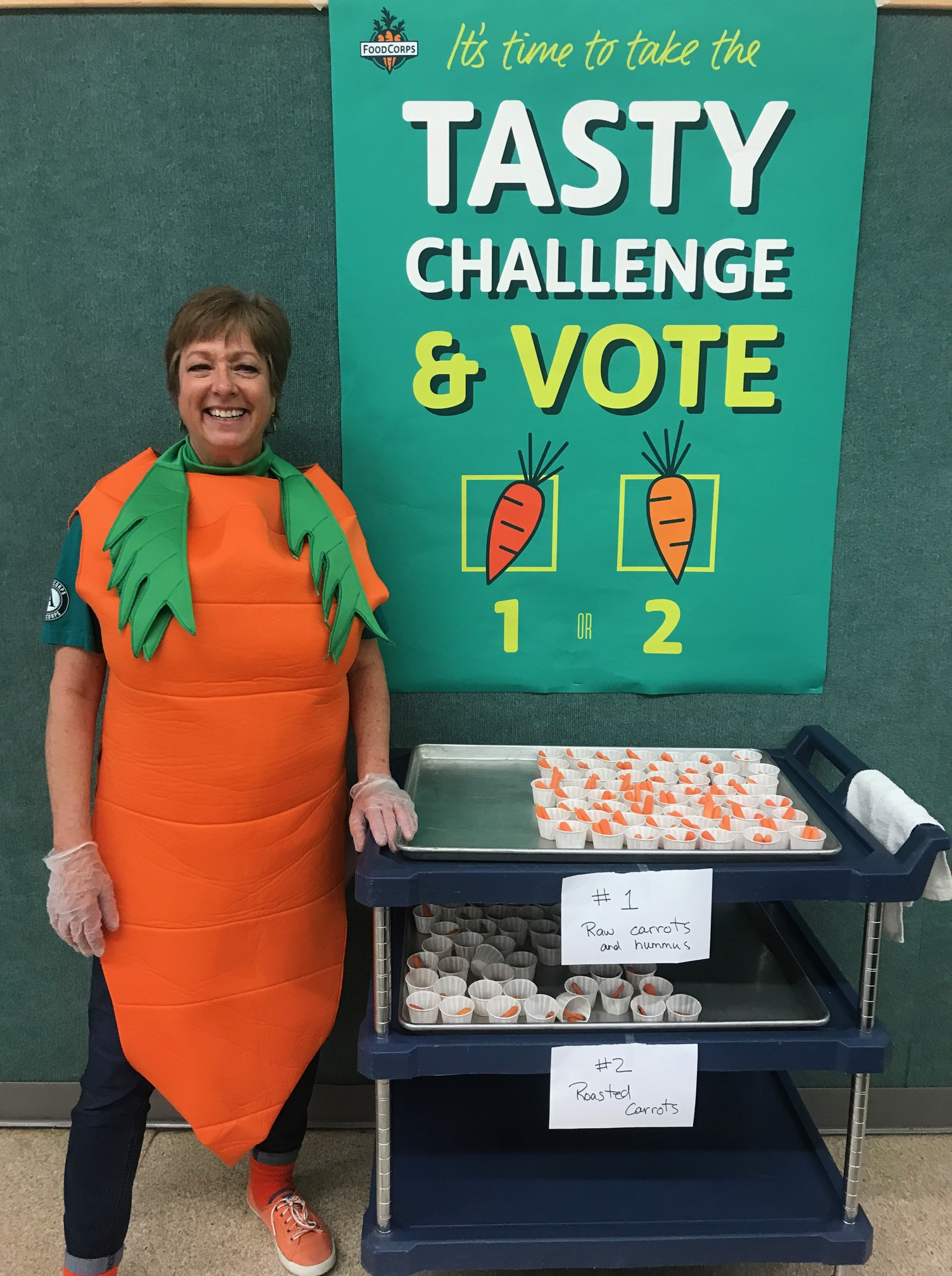 Tracy in carrot costume